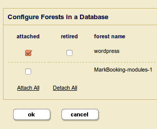 Assigning a forest to the database